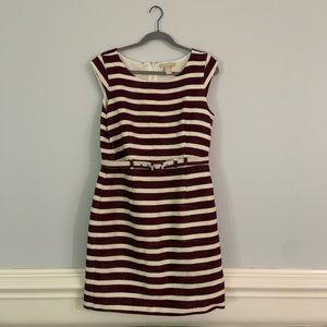 Banana Republic Burgundy Striped Dress